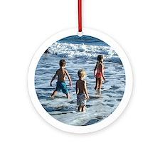 Beach Play Ornament (Round)