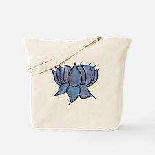 Blue Lotus Flower Tote Bag