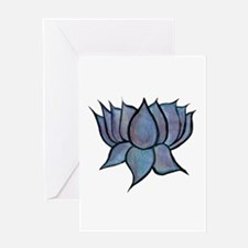 Blue Lotus Flower Card Blank Greeting Cards