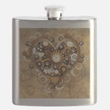 Steampunk Heart Love Flask