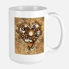 Steampunk Heart Love Mugs