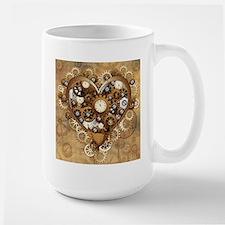 Steampunk Heart Love Mugs