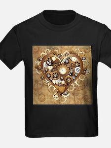 Steampunk Heart Love T-Shirt