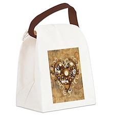 Steampunk Heart Love Canvas Lunch Bag