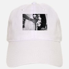 Bride and groom holding black and white weddin Baseball Baseball Cap