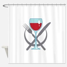 TABLE PLACE SETTING Shower Curtain