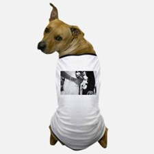 Bride and groom holding black and whit Dog T-Shirt