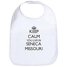 Keep calm you live in Seneca Missouri Bib