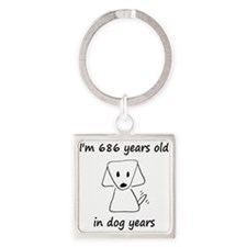 98 dog years 6 - 2 Keychains