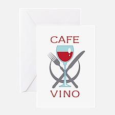 CAFE VINO Greeting Cards