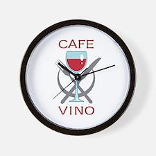 CAFE VINO Wall Clock
