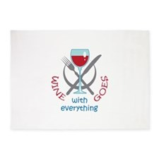 WINE GOES WITH EVERYTHING 5'x7'Area Rug