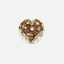 Steampunk Heart Love Mini Button