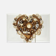 Steampunk Heart Love Magnets