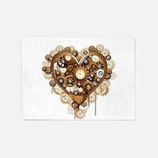 Steampunk Heart Love 5'x7'Area Rug