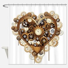 Steampunk Heart Love Shower Curtain