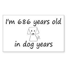 98 dog years 6 - 3 Decal
