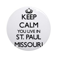 Keep calm you live in St. Paul Mi Ornament (Round)