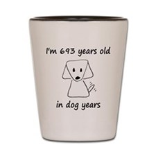 99 dog years 6 Shot Glass