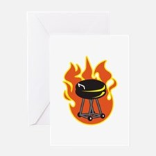 BARBEQUE GRILL Greeting Cards