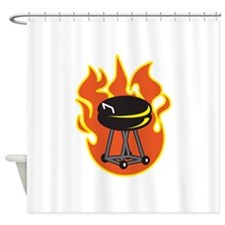 BARBEQUE GRILL Shower Curtain