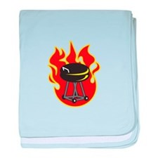 BARBEQUE GRILL baby blanket