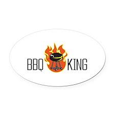 BBQ KING Oval Car Magnet