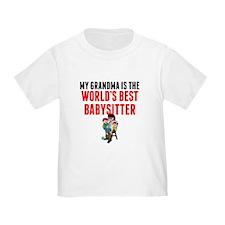 My Grandma Is The Worlds Best Babysitter T-Shirt