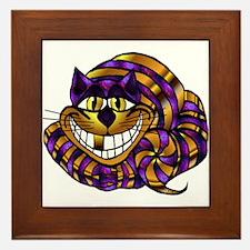 Golden Cheshire Cat Framed Tile