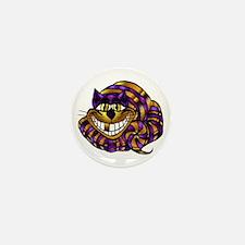 Golden Cheshire Cat Mini Button