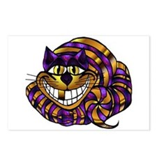 Golden Cheshire Cat Postcards (Package of 8)