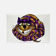 Golden Cheshire Cat Rectangle Magnet