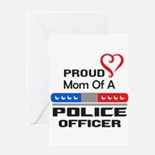 PROUD MOM AN OFFICER Greeting Cards