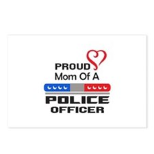 PROUD MOM AN OFFICER Postcards (Package of 8)