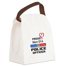 PROUD MOM AN OFFICER Canvas Lunch Bag