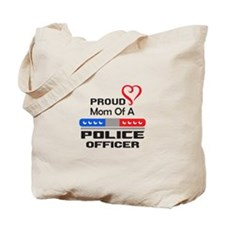 PROUD MOM AN OFFICER Tote Bag