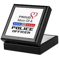 PROUD MOM AN OFFICER Keepsake Box