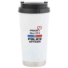 PROUD MOM AN OFFICER Travel Mug