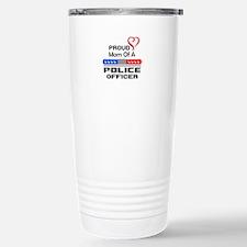 PROUD MOM AN OFFICER Travel Mug