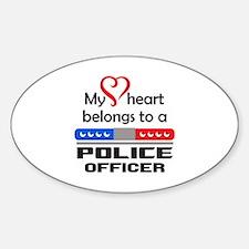 HEART BELONGS TO AN OFFICER Decal