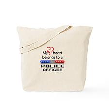 HEART BELONGS TO AN OFFICER Tote Bag