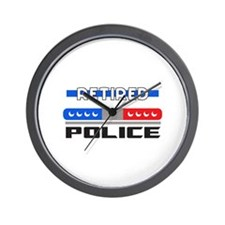 RETIRED POLICE Wall Clock
