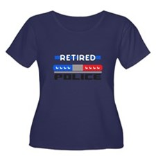 RETIRED POLICE Plus Size T-Shirt