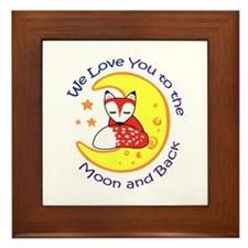 LOVE YOU TO THE MOON Framed Tile