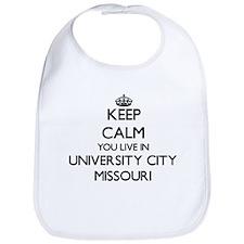 Keep calm you live in University City Missouri Bib