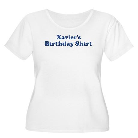 Xavier birthday shirt Women's Plus Size Scoop Neck