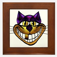 Golden Cheshire Cat Framed Tile