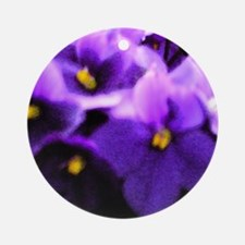 Violets Round Ornament