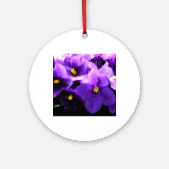Violets Round Ornament