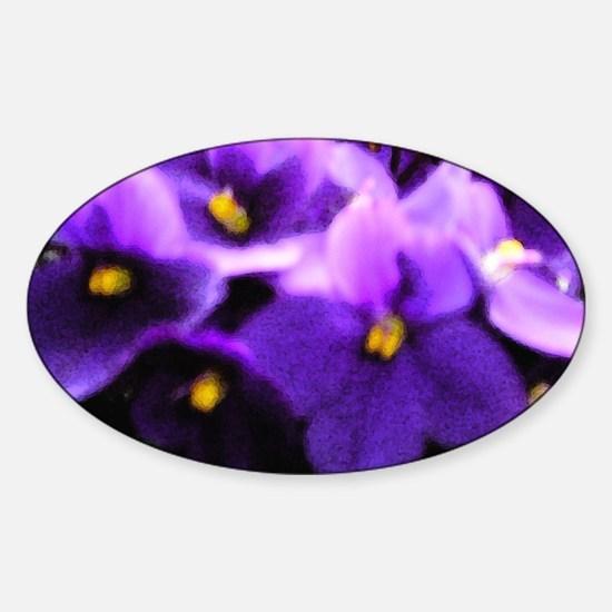 Violets Sticker (Oval)
